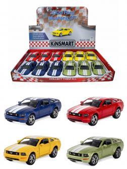 Металлическая машинка Kinsmart 1:38 «2006 Ford Mustang GT с принтом» KT5091DF инерционная / Микс