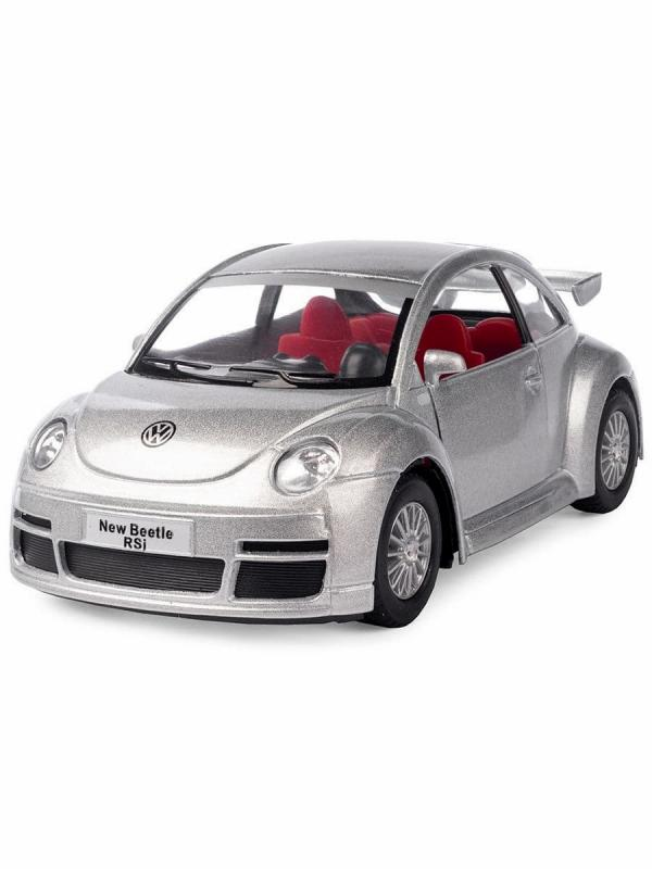 Металлическая машинка Kinsmart 1:32 «Volkswagen New Beetle Rsi» KT5058W, инерционная в коробке / Микс