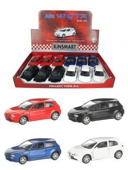 Металлическая машинка Kinsmart 1:32 «Alfa Romeo 147 GTA» KT5085D, инерционная / Микс