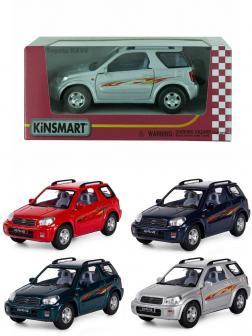 Металлическая машинка Kinsmart 1:32 «Toyota Rav4» KT5041W, инерционная в коробке / Микс