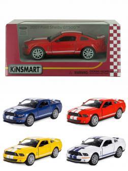 Металлическая машинка Kinsmart 1:38 «2007 Ford Shelby GT500» KT5310W инерционный в коробке / Микс