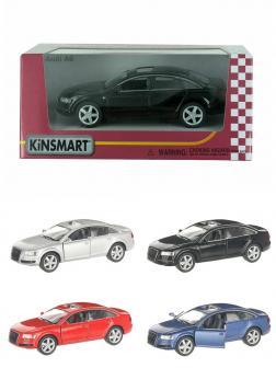 Машинка металлическая Kinsmart 1:38 «Audi A6» KT5303W инерционная в коробке / Микс