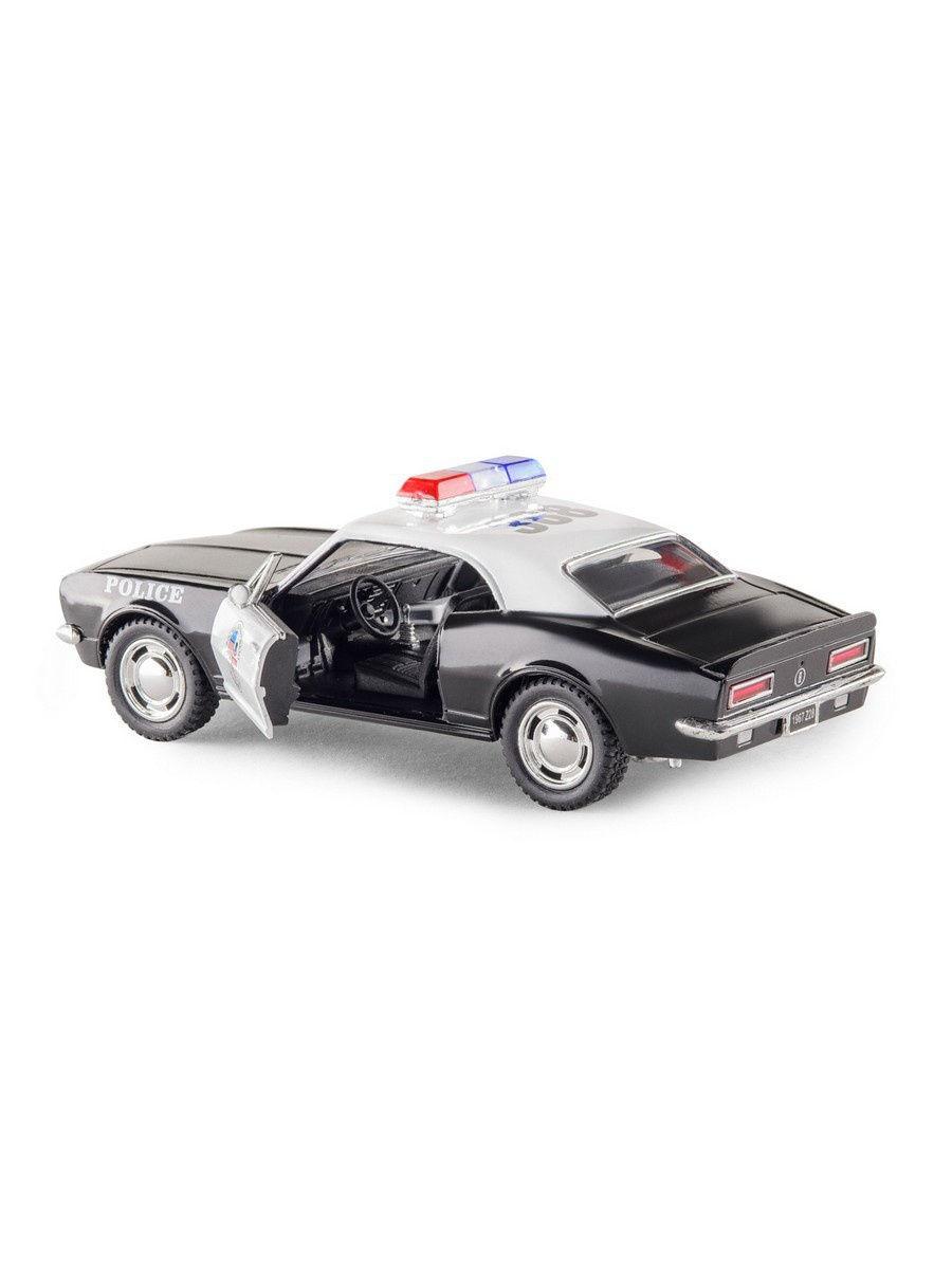 Металлическая машинка Kinsmart 1:37 «1967 Chevrolet Camaro Z/28 (Police)» KT5341DP, инерционная