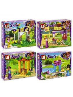 Конструктор LB Friends «Вечеринка» 8 шт. в упаковке LB546-1 / 70-77 деталей