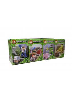 Конструктор LB «Персонажи с питомцами» LB378 (Minecraft) Комплект 8 шт.