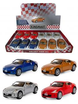 Металлическая машинка Kinsmart 1:34 «Nissan 350Z» KT5061D инерционная / Микс