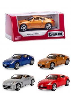Металлическая машинка Kinsmart 1:34 «Nissan 350Z» KT5061W инерционная в коробке / Микс