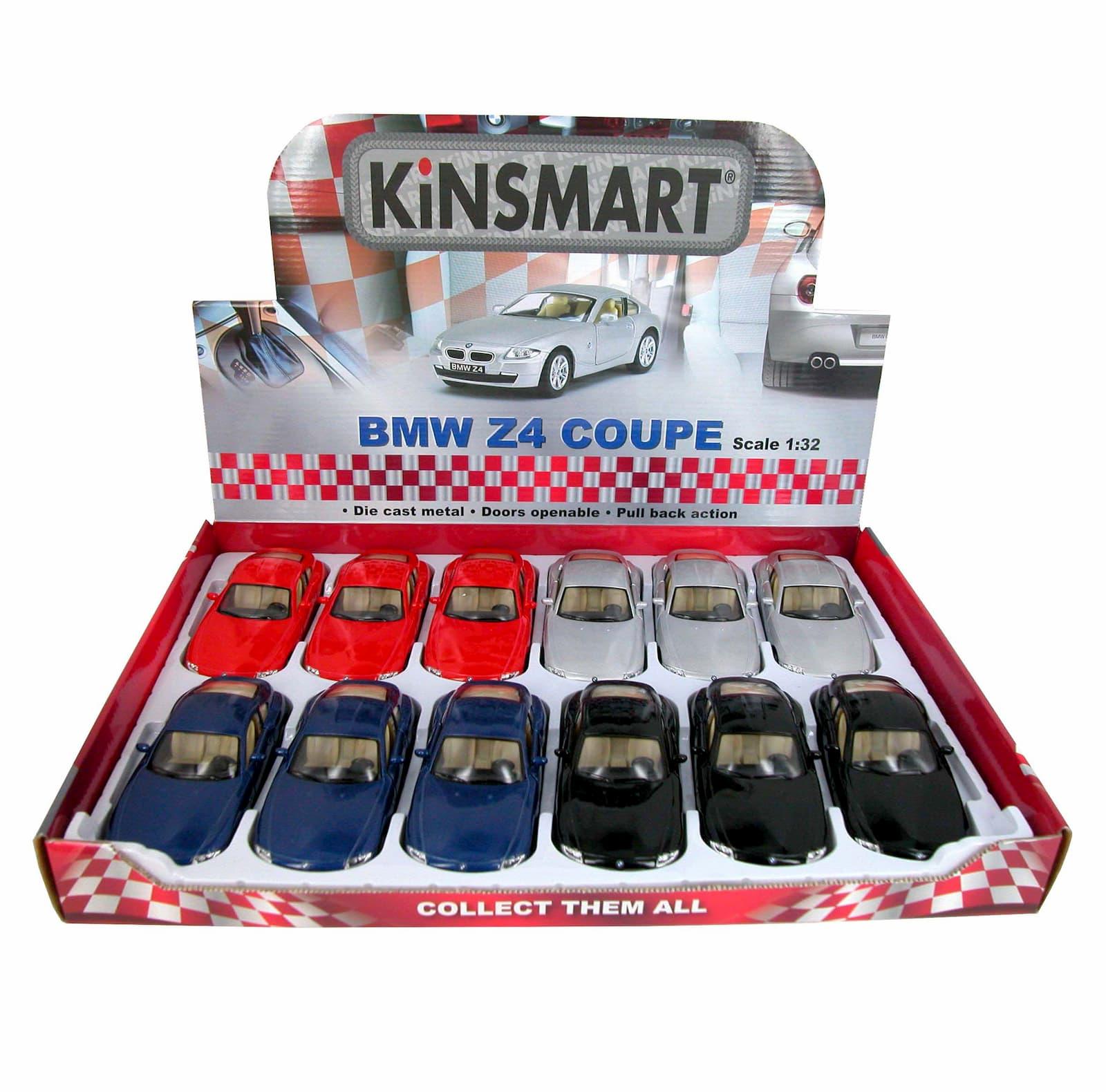 Металлическая машинка Kinsmart 1:32 «BMW Z4 Coupe» KT5318D, инерционная / Микс