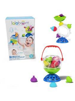 Игрушка развивающая Lalaboom Ведерко для купания, 12 предметов