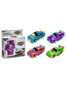 Машинка 1:32, разбивающаяся, инерционная, 4 цвета в ассортименте