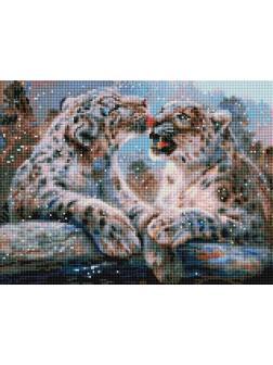 Набор для творчества Белоснежка Алмазная мозаика на раме Ирбисы 30х40см