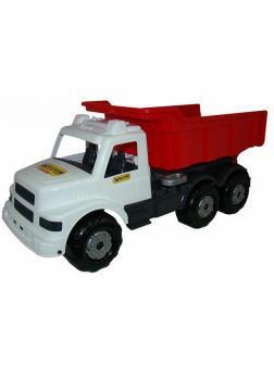 Автомобиль самосвал Буран 3 (бело-красный) 73*29,5*32,5 см.