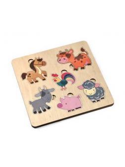Игра развивающая деревянная Домашние животные (21х21см)