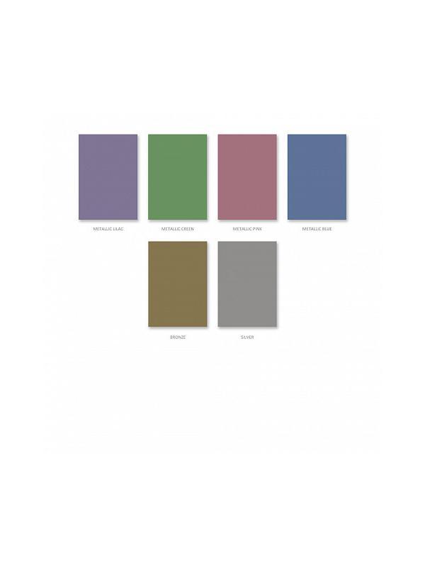 Бумага цветная металлизированная ArtBerry, мелованная самоклеящаяся В5, 6 листов, 6 цветов