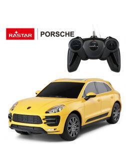 Машинка на радиоуправлении RASTAR Porsche Macan Turbo, желтый 1:24