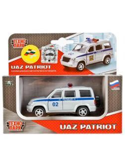 Машинка Технопарк Уаз Патриот Полиция, открываются двери, металлическая, инерционная