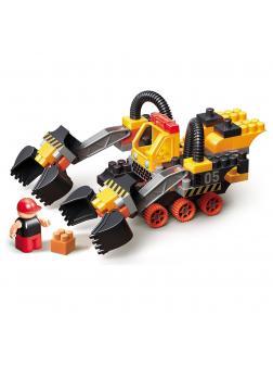 Конструктор Bauer «Technobot» с роботом и пилотом, 795 / 86 деталей
