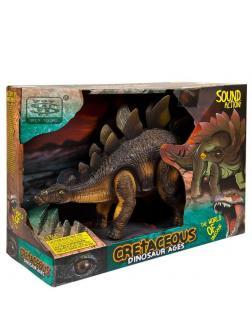 Игрушка интерактивная Junfa Динозавр Стегозавр на батарейках 20см