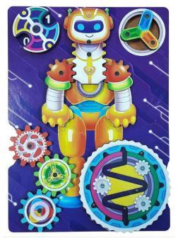 Развивающая доска Мастер Игрушек Бизиборд Робот 19х14 см