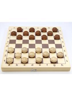 Настольная игра Десятое королевство Шашки деревянные, поле 29см х 29см