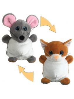Мягкая игрушка Перевертыши «Мышка / Кошка» 16 см. M5028