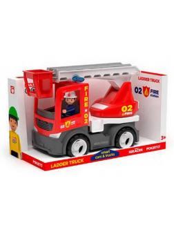 Пожарная машина с фигуркой водителя, пластмасса