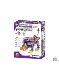 Конструктор Русский Стиль Игровая модель Боевые роботы Буйвол, пластиковый, 55 деталей