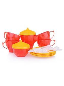 Набор посуды Чайный сервиз Волшебная Хозяюшка (24 предмета в сетке) 57*42*30 см