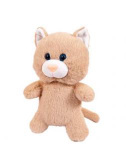 Флэтси. Кот бежевый, 24 см. игрушка мягкая