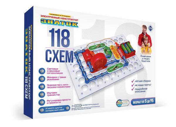 Электронный конструктор ЗНАТОК Играем и учимся 118 схем
