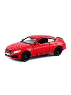 Машинка металлическая Uni-Fortune RMZ City 1:32 Mercedes-Benz C63 S AMG Coupe 2019 (цвет красный)
