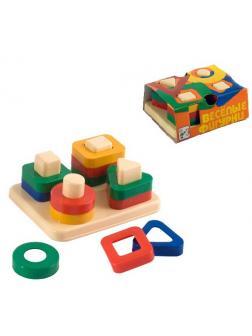 Игра дидактическая Веселые фигурки 13,5х11х,5,5 см.