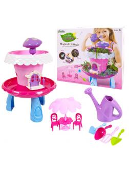 Коттедж волшебный, со звуковыми и световыми эффектами, цвет розовый, без семян!!!