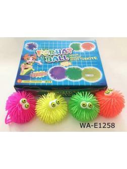 Игрушка-антистресс Junfa Мялка Мячик Junfa, световые эффекты, в дисплее 12 шт.