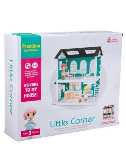 Игровой набор ABtoys Модульный домик (собери сам), 4 секции. Мини-куколки в гостиной и музыкальной комнатах, в наборе с аксессуарами