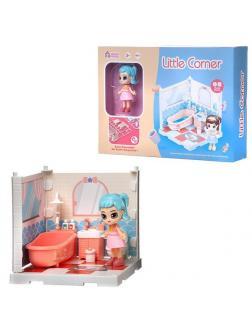 Игровой набор ABtoys Модульный домик (собери сам), 1 секция. Мини-кукла в ванной комнате, в наборе с аксессуарами