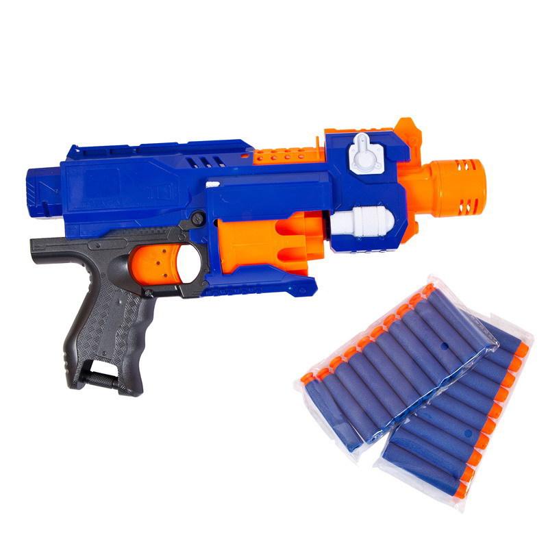 Мегабластер Бластер синий с 20 мягкими пулями PT-00918 / ABtoys