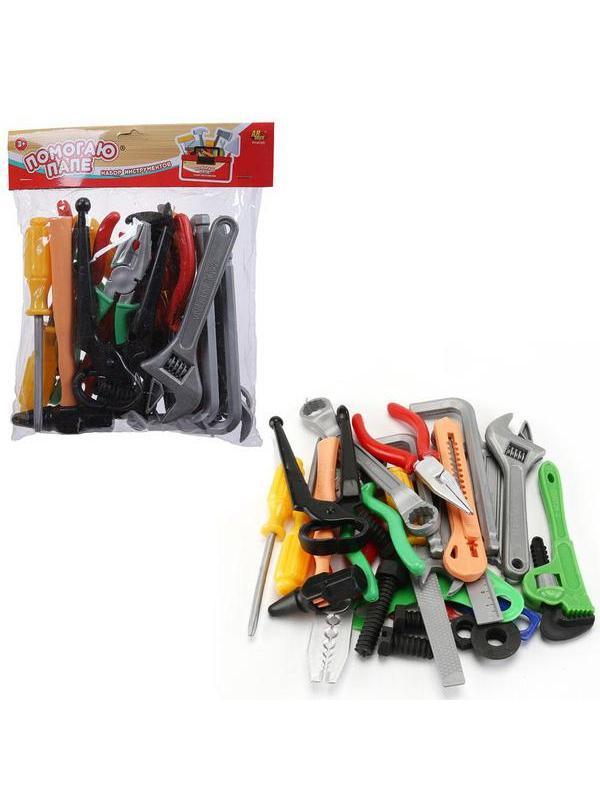 Игровой набор ABtoys Помогаю Папе Инструменты в пакете с хедером, 28 предметов