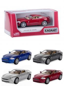 Металлическая машинка Kinsmart 1:38 «Jaguar XK Coupe» KT5321W, инерционная в коробке / Микс