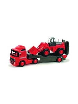 Автомобиль трейлер + трактор - погрузчик &