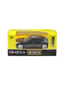 Машинка металлическая Uni-Fortune RMZ City 1:64 Porsche Panamera, без механизмов, черный матовый цвет