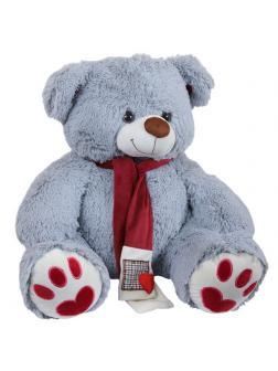 Мягкая игрушка Медведь плюшевый серый 60 см