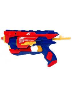 Бластер стреляющий мягкими снарядами 10 шт. в комплекте 7071 / Junfa