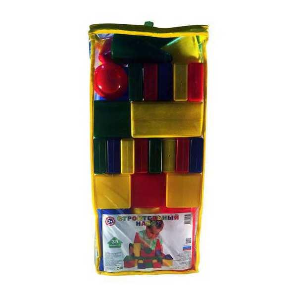 Набор строительный 35 элементов (пакет, высота 56см)