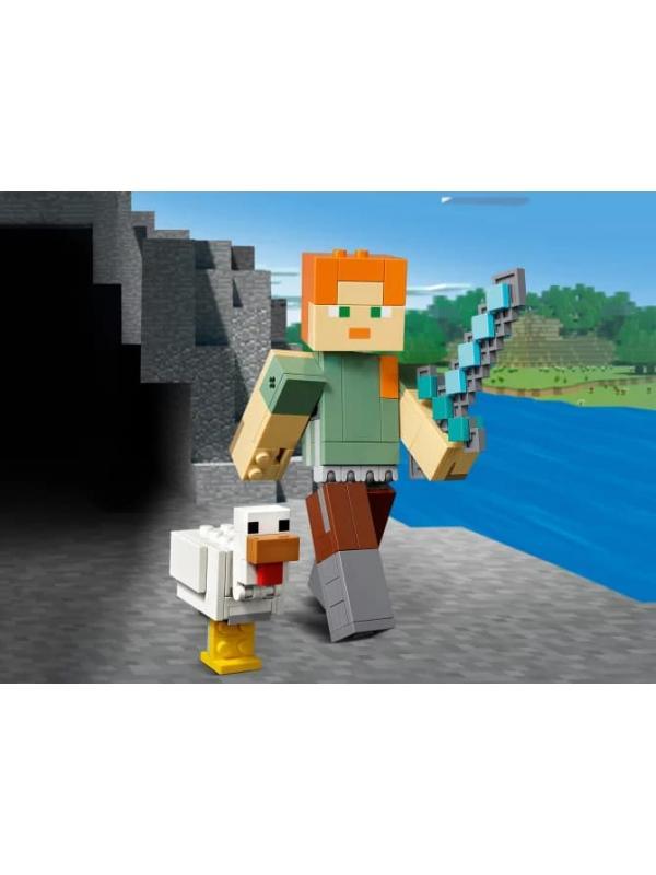 Конструктор LEGO Minecraft «Алекс с цыплёнком» 21149, 160 деталей