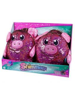 Shimmeez (Шиммиз), мягконабивная фигурка свинки в пайетках, 35 см, 4 шт в дисплее