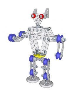 Конструктор металлический с подвижными деталями Робот Р1