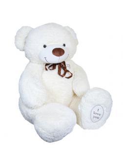 Мягкая игрушка Медведь плюшевый бежевый 130 см