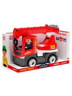 Пожарный кран с фигуркой водителя, пластмасса
