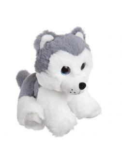 Мягкая игрушка ABtoys Домашние любимцы Собачка Хаски, 15 см